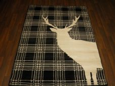 Modern Rugs Approx 6x4ft 120x170cm Woven Backed Stag Black/White Quality rugs